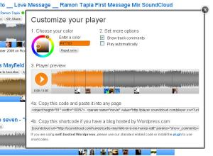 Customising Sound Cloud