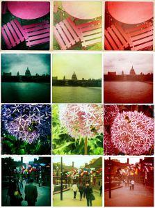 A test sheet of hipstamatic photos