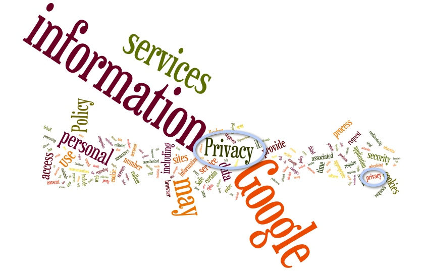 Words of the existing Google Privacy Policy until 1 March 2012